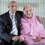 پیرترین زن و شوهر دنیا جشن تولد گرفتند + عکس