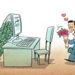 دام سایت های همسریابی / کاریکاتور