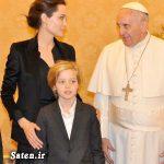 ملاقات آنجلینا جولی با پاپ فرانسیس + عکس