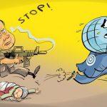 جامعه جهانی مقابل ترور بایستد؟ / کاریکاتور