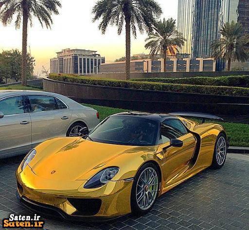 قیمت پورشه 918 اسپایدر خودرو لوکس خودرو گران قیمت خودرو طلایی