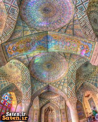 هنر ایرانی معماری ایرانی مسجد نصیرالملک گردشگری شیراز زیباترین ساختمان