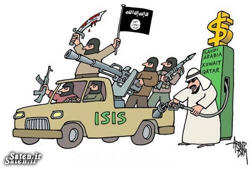 کشور قطر کاریکاتور قطر عراق و قطر حامیان داعش جنایات قطر جنایات داعش امیر قطر