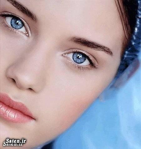 عکس جراحی زیبایی رنگ عنبیه دختر زیبا چشمان زیبا چشمان آبی