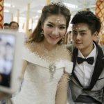 جشن عروسی در تابوت + عکس
