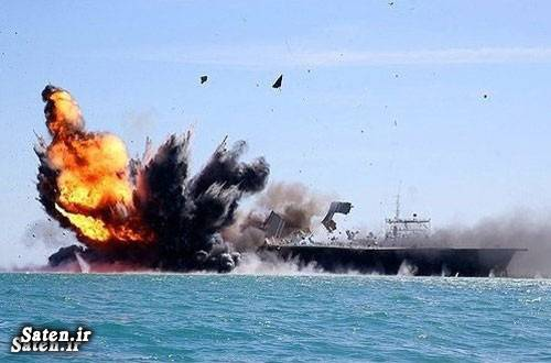 عکس ناو ایرانی عکس ناو آمریکایی جنگ ایران و آمریکا
