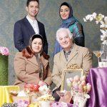 الهام حمیدی با پدر ، مادر و برادرش کنار هفت سین + عکس
