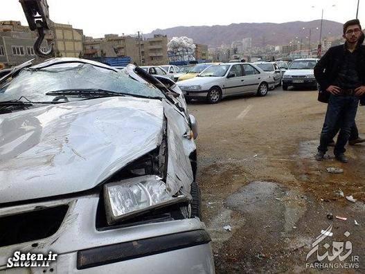 عکس تصادف حوادث واقعی تصادف سمند اخبار تصادف