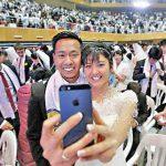 ازدواج همزمان ۳۸۰۰ نفر در کره جنوبی + عکس