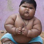 سنگین وزن ترین پسر بچه هندی + عکس