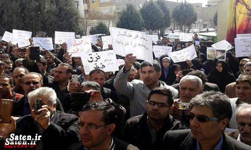عکس تجمع معلمان تجمع معلمان اعتصاب معلمان اعتراض معلمان