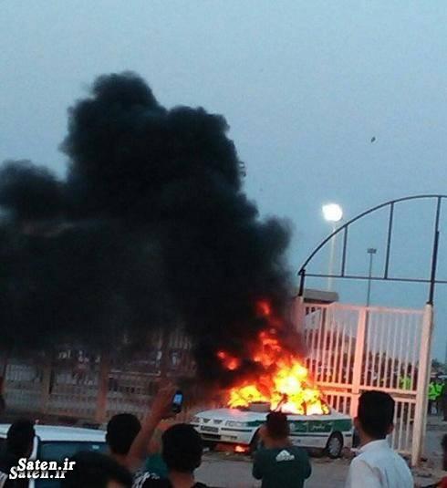 خودرو پلیس حوادث خوزستان اخبار خوزستان آتش زن خودرو پلیس