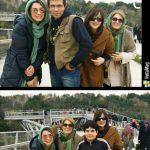 الیکا عبدالرزاقی در کنار مادر ، برادر و همسر برادرش + عکس