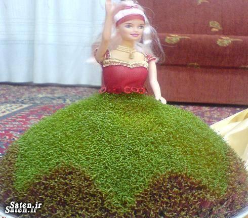 مدل سبزه عید به شکل عروسک