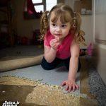 این دختربه جای غذا ، فرش و موکت می خورد! + تصاویر