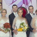 عروسی همزمان سه خواهر شبیه به هم + عکس
