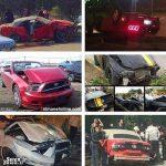 تصادف خودروهای لوکس و میلیاردی در ایران + عکس