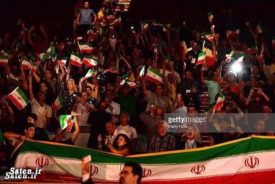 کشتی در لس آنجلس کشتی آزاد ایران آمریکا تماشاگران ایران در لس آنجلس تماشاگران ایران