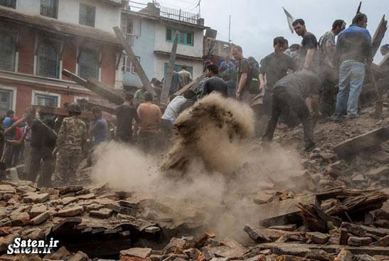 عکس زلزله زلزله نپال حوادث واقعی اخبار حوادث