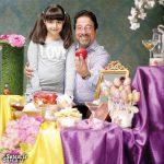 علیرضا خمسه در کنار همسر و دخترانش + عکس