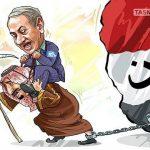 خدمات آل سعود برای اسرائیل / کاریکاتور