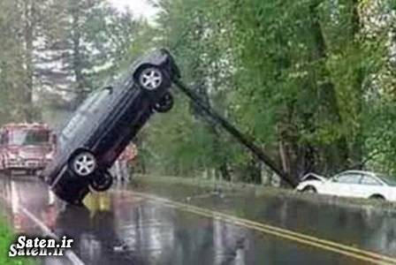 عکس طنز عکس خنده دار عکس جالب عکس تصادف رانندگی زنان رانندگی خانم ها