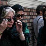 اشک های رخشان بنی اعتماد در مراسم تشییع محمدرضا مقدسیان + عکس