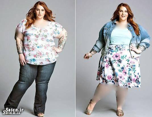 مدلینگ عکس سوپر مدل زن چاق دختر مدل دختر چاق Tess Holliday