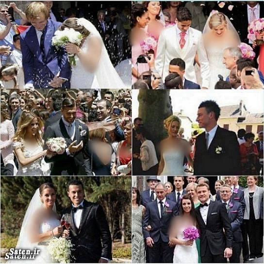 عروسی فوتبالیست ها عروسی بازیکنان رافائل واران خانواده کریس رونالدو بیوگرافی کریس رونالدو Raphael Varane