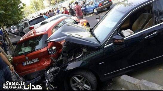 عکس تصادف خودرو حوادث تهران تصادف خودرو لوکس تصادف خودرو گرانقیمت اخبار تهران