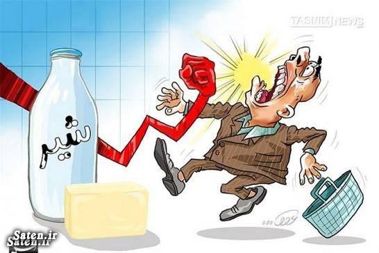 کاریکاتور قیمت کالا کاریکاتور افزایش قیمت قیمت لبنیات