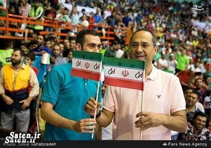 والیبال ایران و امریکا عکس والیبال خندوانه تماشاگران والیبال بیوگرافی رامبد جوان اخبار والیبال
