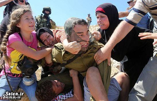 سرباز اسراییلی زن فلسطینی دختر فلسطینی جنایات اسرائیل