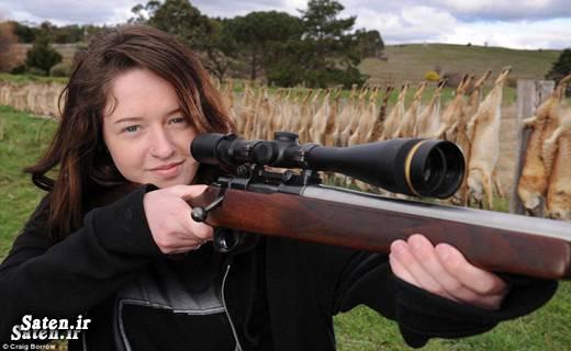 شکار روباه دختر استرالیایی