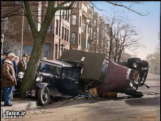 عکس قدیمی عکس تصادف