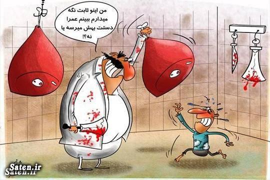 کاریکاتور قیمت گوشت کاریکاتور قیمت