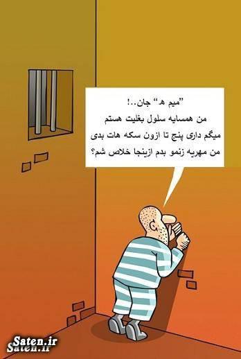 کشف موبایل و ۳۰ سکه طلا از مهدی هاشمی در زندان / کاریکاتور
