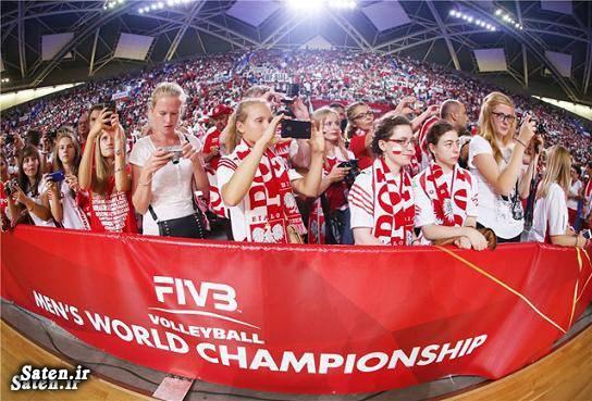 والیبال لهستان والیبال ایران و لهستان دختر لهستانی اخبار والیبال