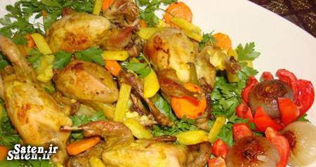 گوشت بلدرچین طرز تهیه خوراک خلاقیت آشپزی بهترین سایت آشپزی آموزش آشپزی