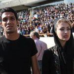 عکس سپهر حیدری و همسرش در ورزشگاه آزادی جنجالی شد + عکس