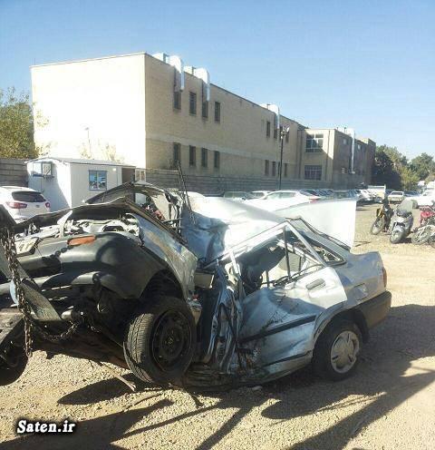 عکس تصادف دلخراش حوادث شیراز تصادف مرگبار تصادف پراید اخبار شیراز اخبار تصادف