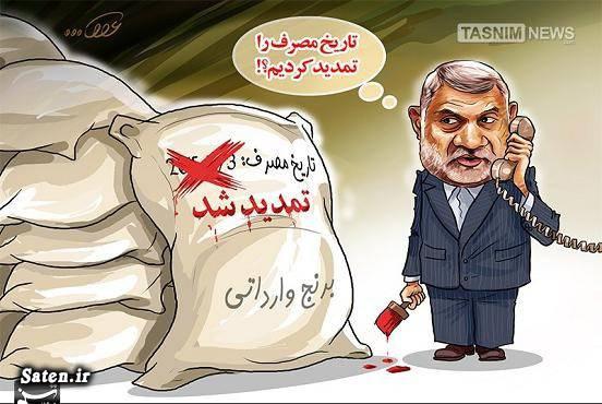 وزیر جهاد کشاورزی کاریکاتور سلامت برنج آلوده