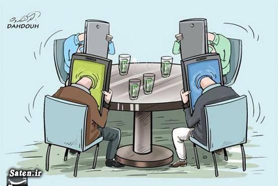 کاریکاتور موبایل