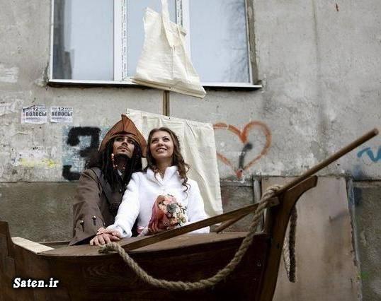 عکس عروس و داماد عکس ازدواج عروس و داماد عجیب ازدواج جالب
