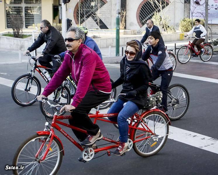 عکس تهران دختر دوچرخه سوار اخبار تهران