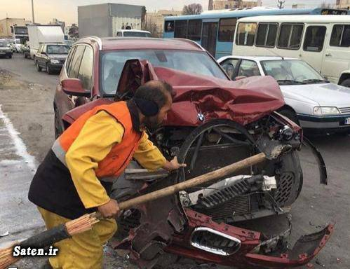عکس تصادف تصادف خودرو لوکس تصادف خودرو گرانقیمت