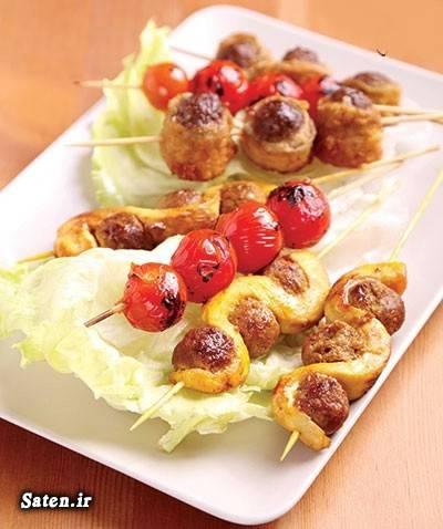کوفته قلقلی کباب مارپیچ مرغ غذای خوشمزه بهترین سایت آشپزی آموزش آشپزی