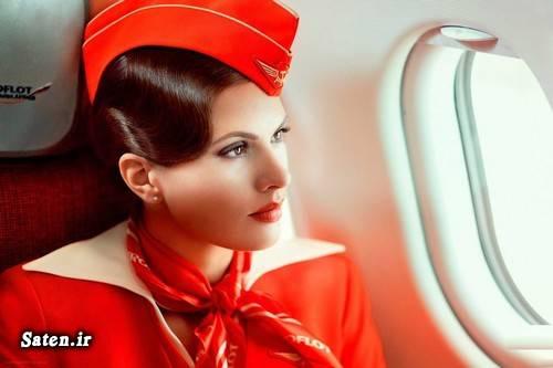 مهماندار هواپیما مهماندار زیبا زن روسی دختر روسی بهترین شرکت هواپیمایی بهترین ایرلاین آئروفلوت Aeroflot