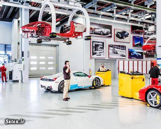 کارخانه فراری عکس کارخانه فراری صنعت خودروسازی انزو فراری Ferrari