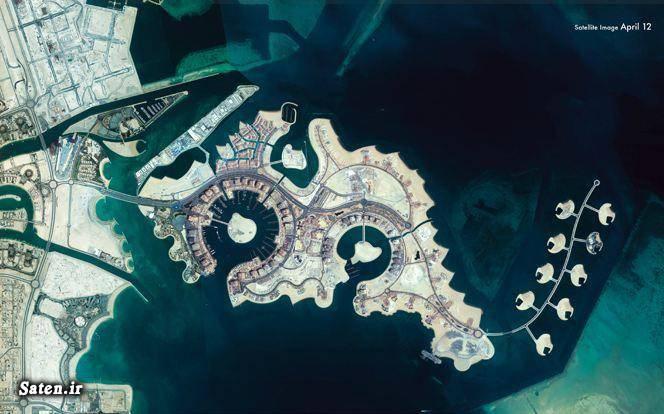 مروارید قطر جزیره مصنوعی جزایر خلیج فارس توریستی قطر The Pearl Qatar
